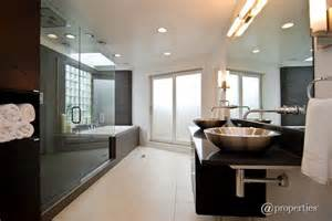 walk in shower ideas for bathrooms contemporary master bathroom with frameless vessel sink