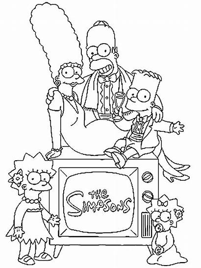 Simpsons Coloring Pages Simpson