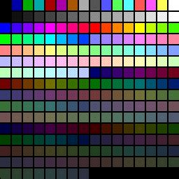 8 bit color binaryfiles are there standard 8 bit color palettes