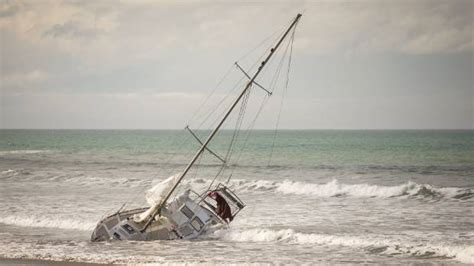 Yacht New Brighton by Stranded New Brighton Yacht To Remain On Until New