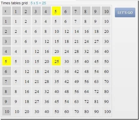 multiplication table practice online number names worksheets table test practice free