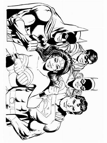 Justice League Coloring Pages Printable Gun Boys