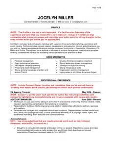 ad agency resume exles sle agency resume
