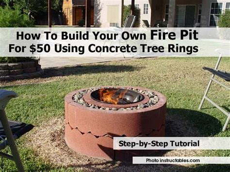 build your own fire pit table how to build your own fire pit for 50 using concrete tree