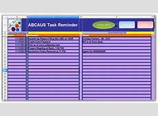 ABCAUSExcelTaskReminder Download