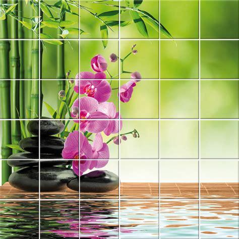 adesivi decorativi per piastrelle adesivi follia adesivo per piastrelle fiori ciottoli