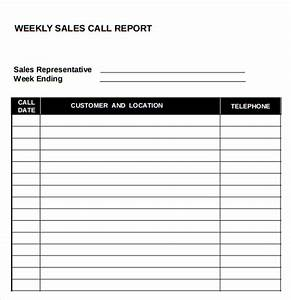 14 sales call report samples sample templates for Sales reports templates free download
