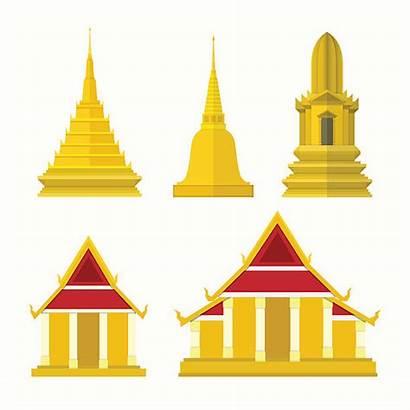 Temple Thai Clipart Vector Clip Illustrations Thailand
