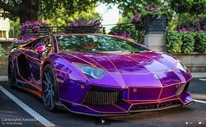 "Neon Purple Lamborghini ""tron"" lamborghini aventador ..."
