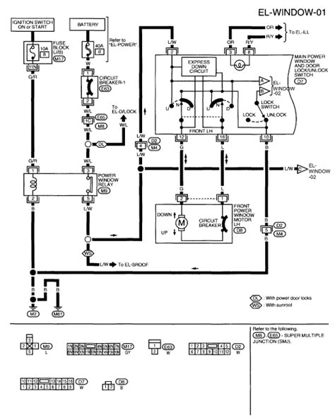 Window Wiring Harnes Diagram For 2003 Nissan Altima by 2009 Nissan Altima Power Window Switch Wiring Wiring Diagram