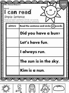 Phonics Cvc I Can Read Simple Sentences Short Vowel