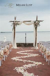 ceremony at the beach at wee burn country club darien With beach wedding ceremony ideas