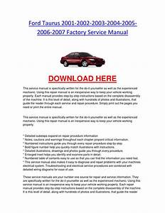 Ford Taurus 2001 2002 2003 2004 2005 2006 2007 Factory