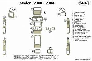 Toyota Avalon 2000 2001 2002 2003 2004 Dash Trim Kit A