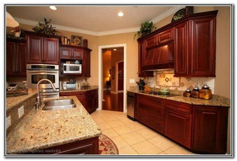 cherry color kitchen cabinets paint colors for kitchens with wood cabinets 5370