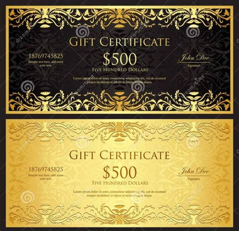 gift certificate templates  printable psd vector