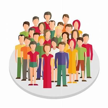 Icon Crowd Clipart Person Sociedade Local Transparent
