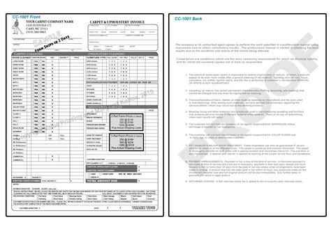 carpet cleaning invoice invoice template ideas