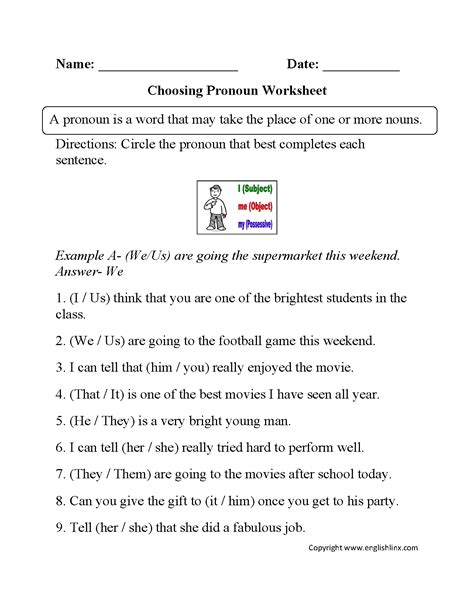 16 Best Images Of Pronouns Worksheets 5th Grade  Pronoun Worksheets 4th Grade, 5th Grade