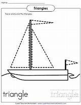 Triangle Worksheets Preschool Children Young Shape Worksheet Trace Shapes Coloring Kindergarten Activities Triangles Sailboat Tracing Printable Preschoolers Pages Toddler Teaching sketch template