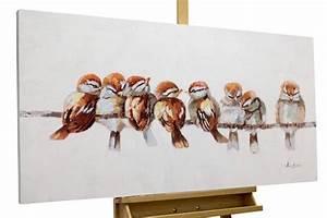 Strandbilder Auf Leinwand : acrylmalerei acryl gem lde 39 v gel heimat bunt 39 echt handgeferti ein designerst ck von ~ Watch28wear.com Haus und Dekorationen