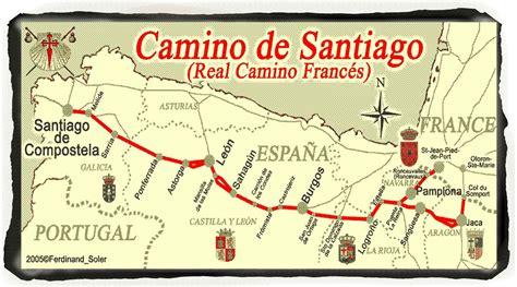 el camino frances camino de santiago 800 project map of the route