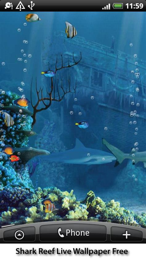 Android Free Live Wallpaper by Shark Reef Live Wallpaper Android App Review