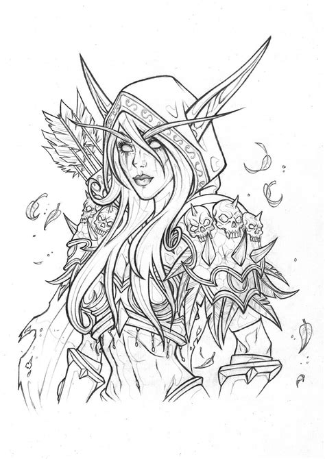 Sylvanas Windrunner | Warcraft art, Elf drawings, Art