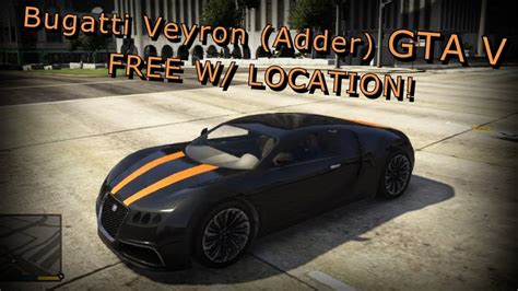 Gta 5 Bugatti Veyron Location! Gta 5 Bugatti!