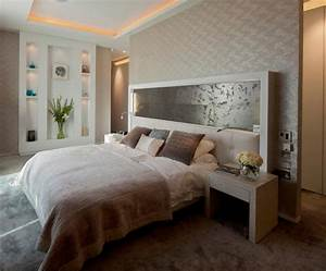 Idee De Tete De Lit : t te de lit et d co murale chambre en 55 id es originales ~ Teatrodelosmanantiales.com Idées de Décoration