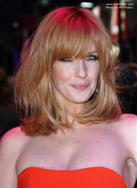 Kelly Reilly   Shoulder length hair and a hair color that