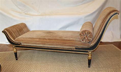 chaise directoire parcel gilt directoire style recamier or chaise