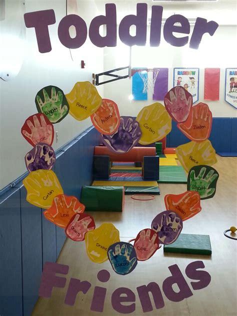 preschool friendship theme handprint friendship wreath 573 | 574d1cc6b6dfb60dc6f3a2f7f8f09fd9