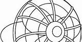 Ventilador Colorear sketch template