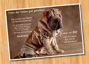 Geburtstag Männer Bilder : einladungskarten geburtstagseinladung karten geburtstag hund ein designerst ck von ~ Frokenaadalensverden.com Haus und Dekorationen