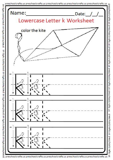 lowercase letter k worksheets free printable preschool and kindergarten