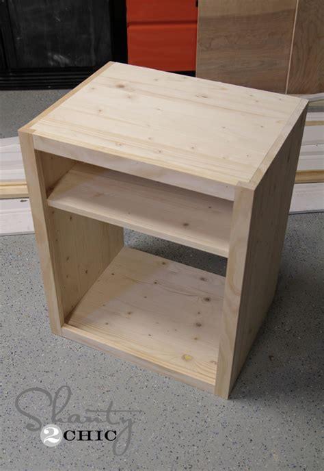 diy bedside pedestals diy nightstand shanty 2 chic diy nightstand in nightstand style millions of furniture inspiration