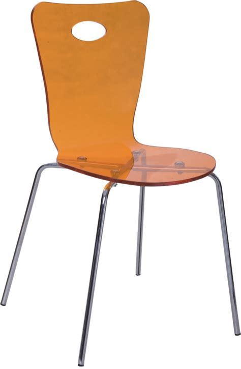 discount furniture orange acrylic dining chair desk