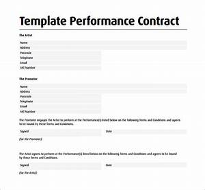 Performance contract template 11 download free for Performance contracts templates