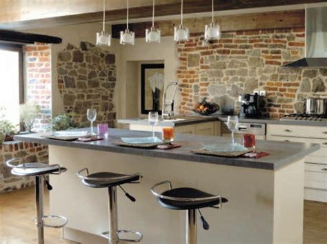 modele cuisine avec ilot bar modele de cuisine americaine avec ilot central 7 modele