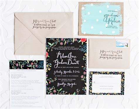 Melissa + Graham's Whimsical Hand Painted Wedding Invitations L Shaped Living Room With Fireplace Hgtv Tuscan Beer & Wine Lounge Design Layout Live From Mr Big Toshi Stream Wall Accessories Chairs Pottery Barn