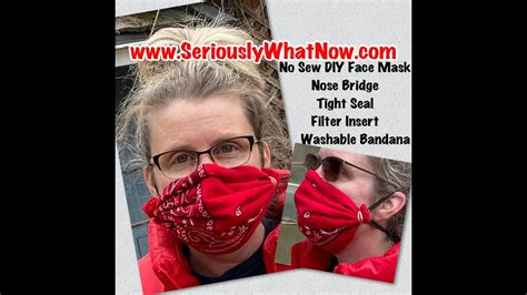 sew diy bandana face mask flexible nose bridge