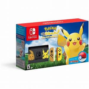 Nintendo Switch Pikachu Eevee Edition With Pokemon Let