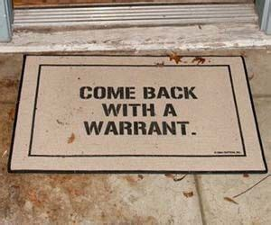 Come Back With A Warrant Doormat by Come Back With A Warrant Doormat Doormat Doors And