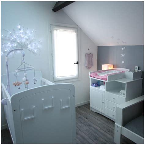 chambre bébé gris et deco chambre bebe fille et gris