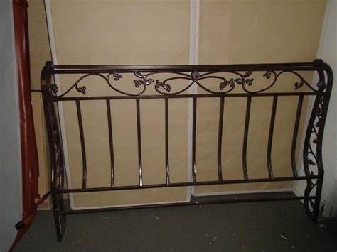 Wrought Iron King Headboard by Excellent Condition Wrought Iron King Size Headboard