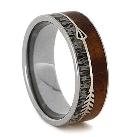 silver arrow ring  ironwood titanium wedding band