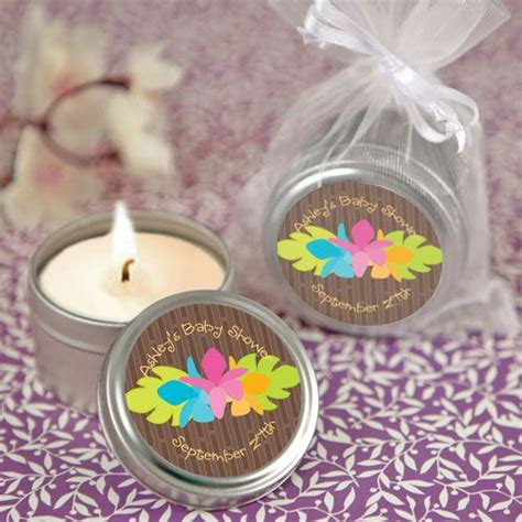 Luau Baby Shower Favors - luau personalized candle tin baby shower favors 1 99