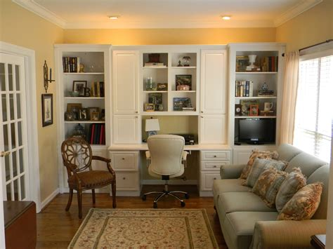 positively southern living roomoffice  built  cabinets
