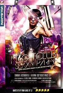 Night Club Party Flyer by rudyvector | GraphicRiver